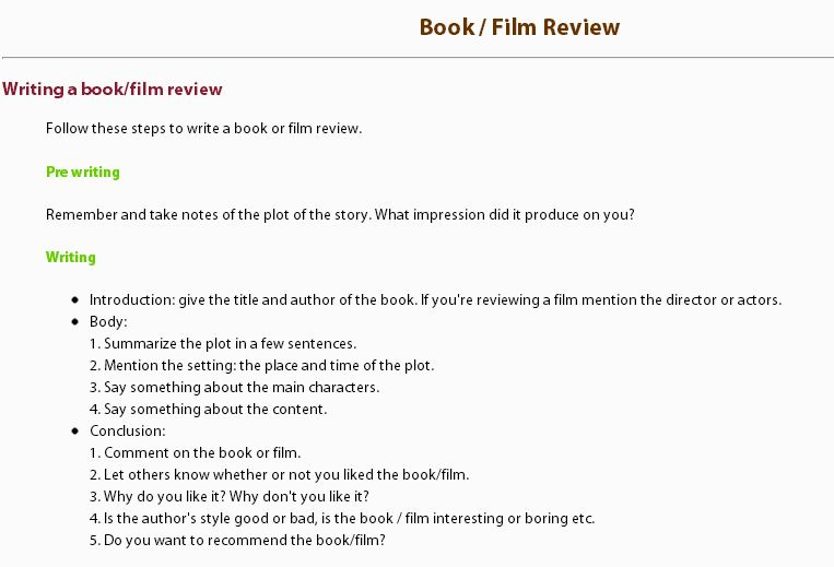 Writing Lessons - Film / Book Review - My English Pages