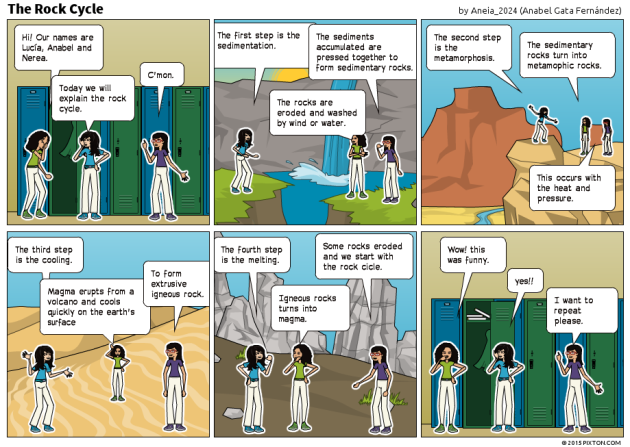 The Water Cycle And The Rock Cycle Explained In Comics