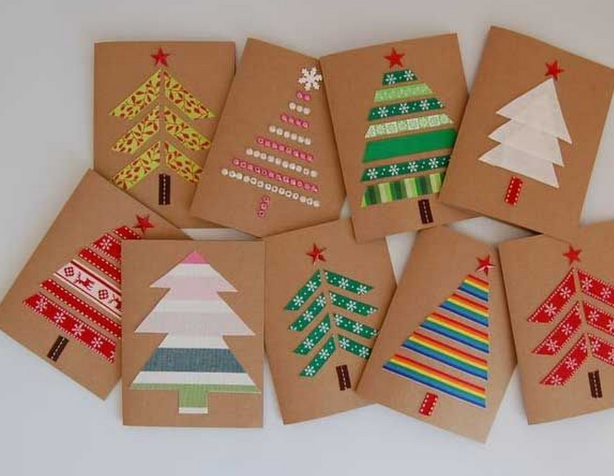 Christmas Cards Using Recycled Materials – OUR BILINGUAL BLOG